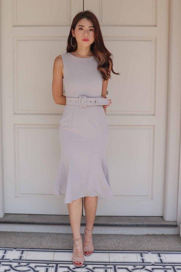 Sera Buckle Dress in Grey