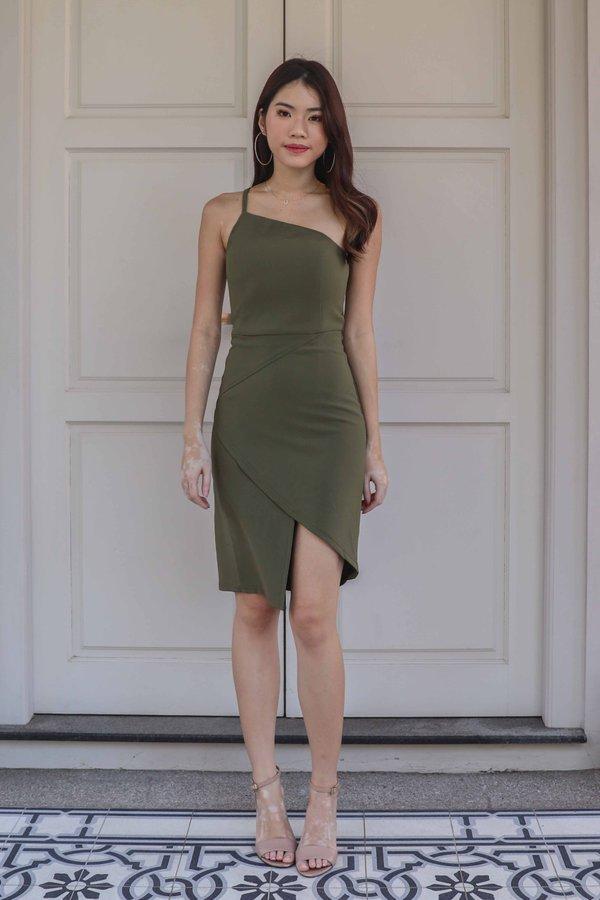 Ellen Toga Dress in Olive