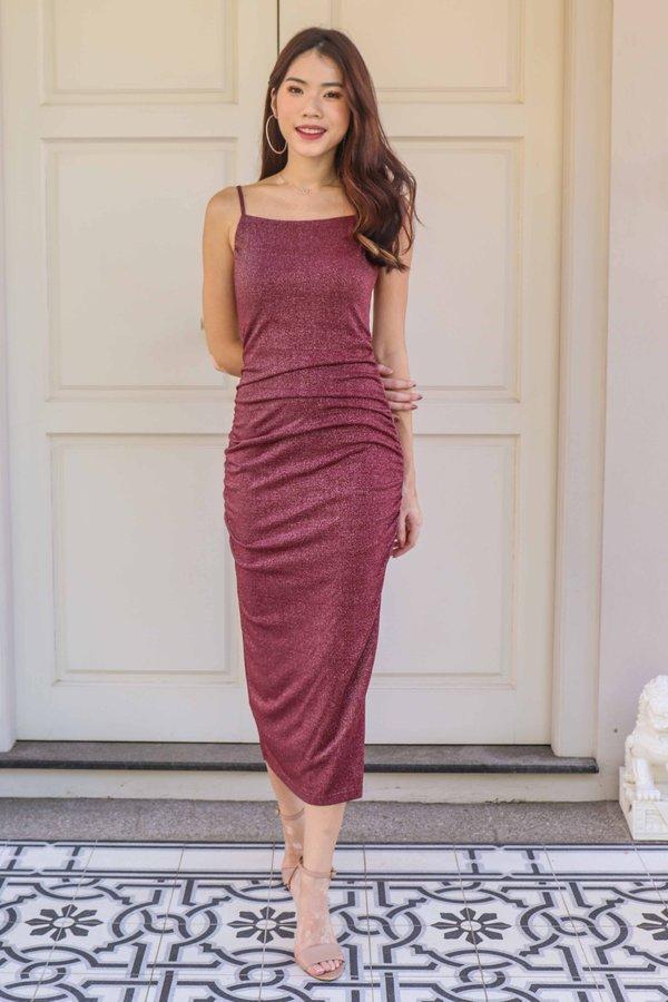 Yara Maxi Dress in Wine