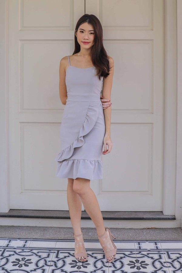 Molley Dress Romper in Grey