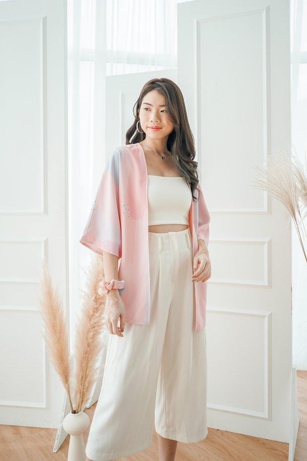 3rd Anni Reversible Kimono in Pink