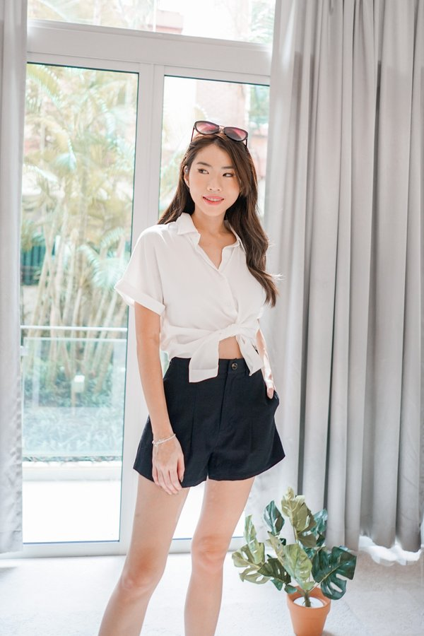 Esther Button Down Shirt in White