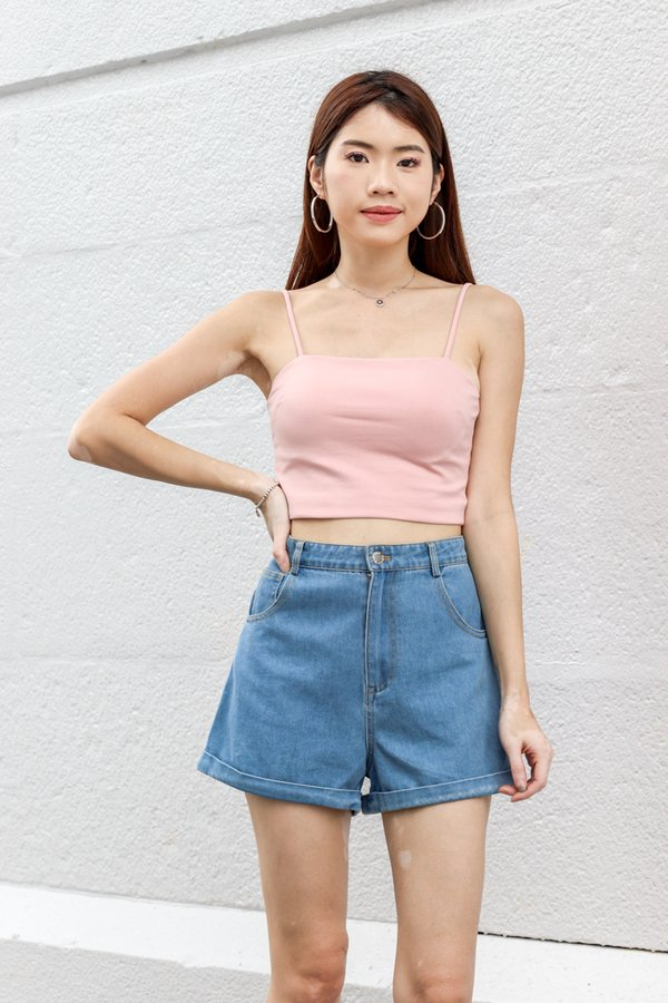 Rica V2 Padded Crop Top in Pink