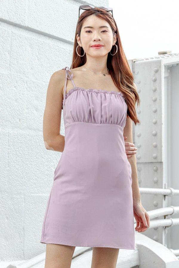 Quinn Dress Romper in Lilac