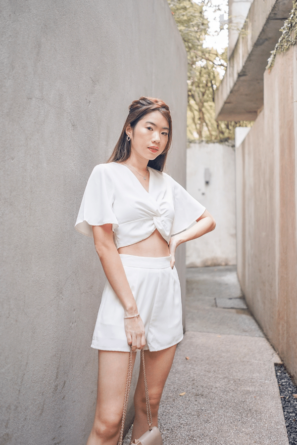 Fiona Knotted 2 Piece Set in White