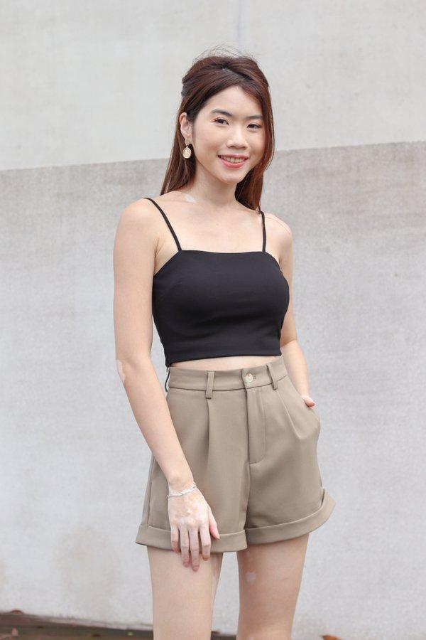 Yoda V2 High Waist Shorts in Olive