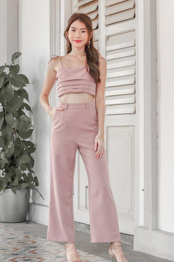 Mackenzie Tie String Top in Pink