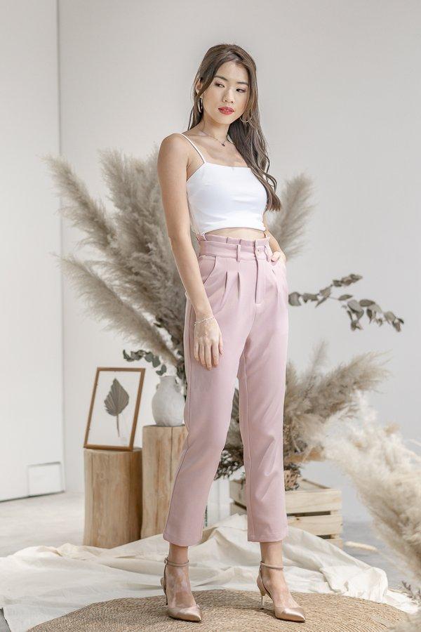 Isabelle Paper Bag Pants in Pink