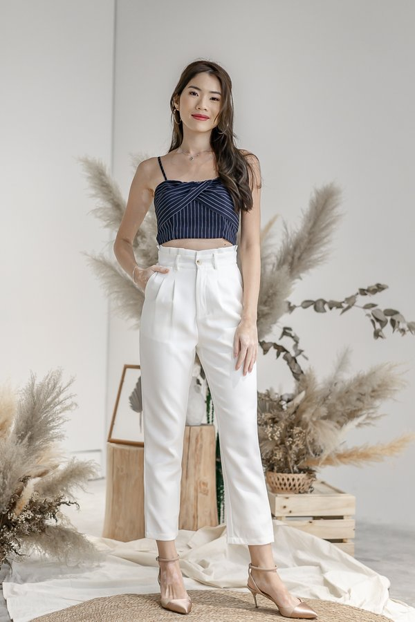 Isabelle Paper Bag Pants in White