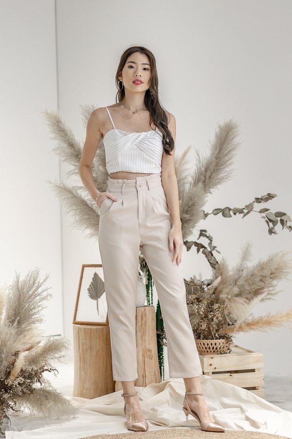 Isabelle Paper Bag Pants in Khaki