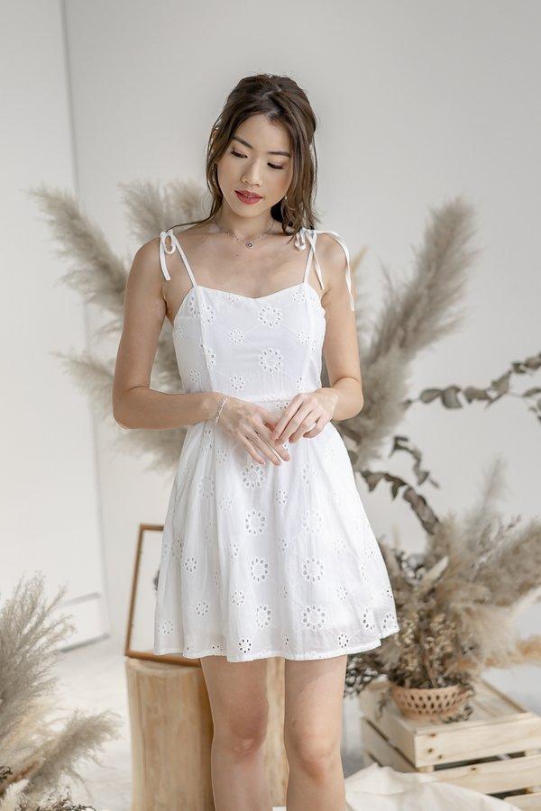 Milli Eyelet Dress in White