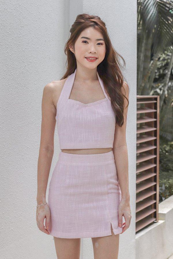 Tiffany Tweed Skorts in Barbie Pink