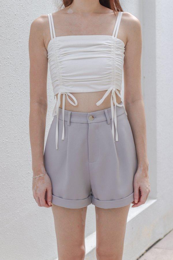 Yoda V2 High Waist Shorts in Grey