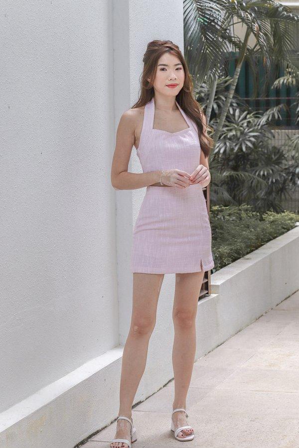 Tiffany Tweed Skorts Set in Barbie Pink