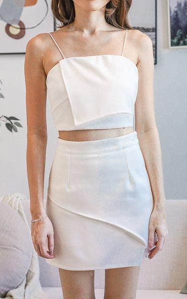 Kiara Skorts in White