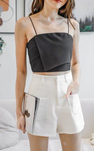Thalia High Waist Shorts in White
