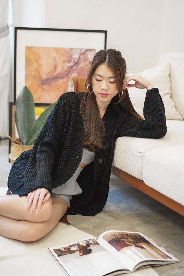 Sierra Knit Cardigan in Black