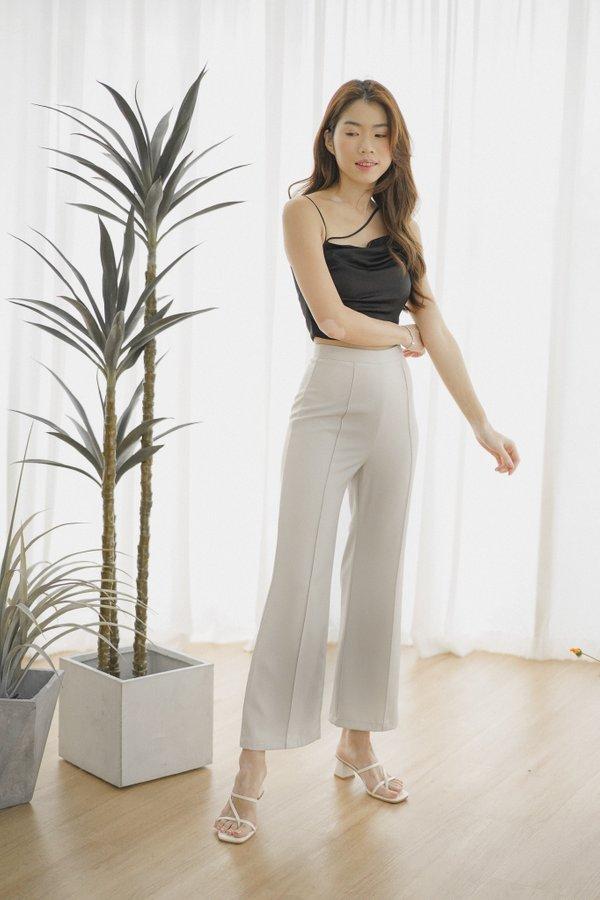 Heidi Straight Leg Pants in Light Grey