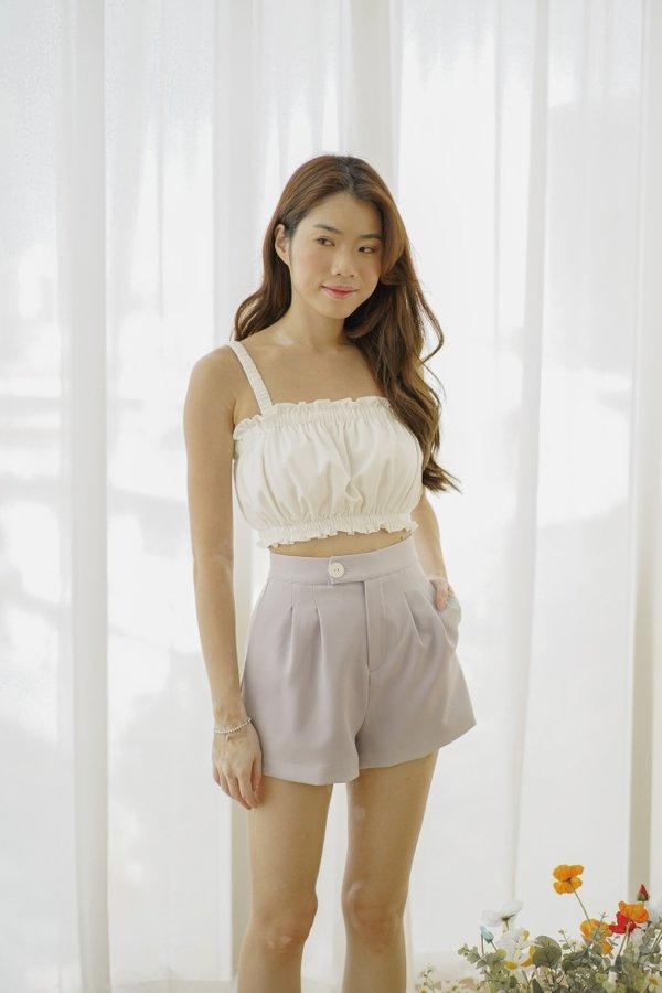 Jaeda High Waist Shorts in Lilac