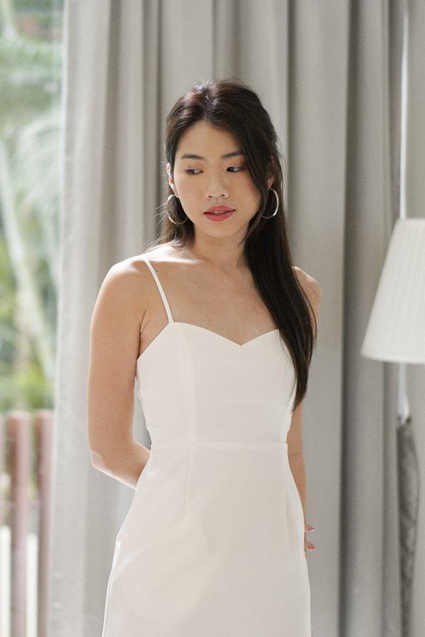 Liana Sweetheart Mini Dress in White