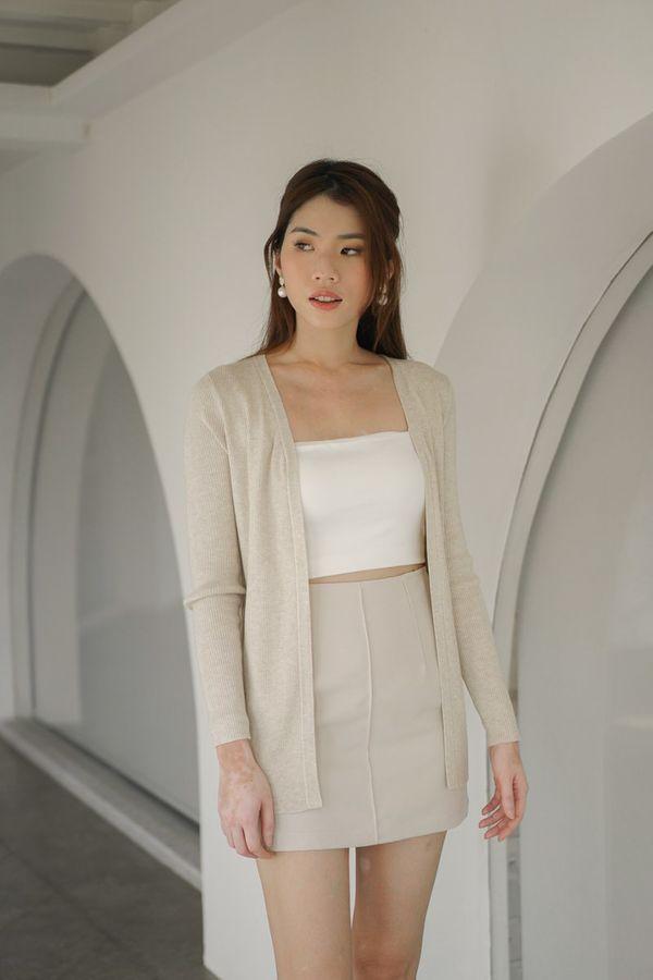 Nola Soft Knit Cardigan in Cream