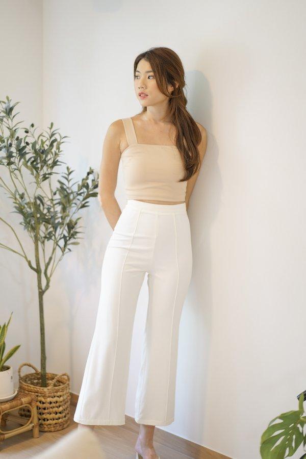 Heidi V2 Straight Leg Pants in White