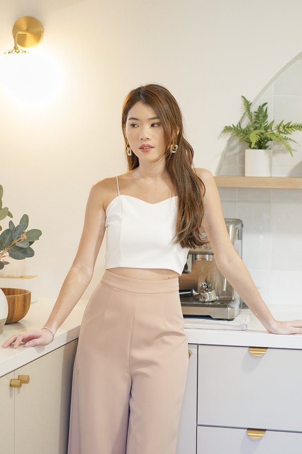 Isabella V2 Sweetheart Top In White