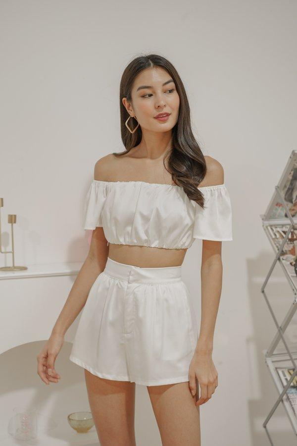 *BACKORDER* Esme Shorts in White