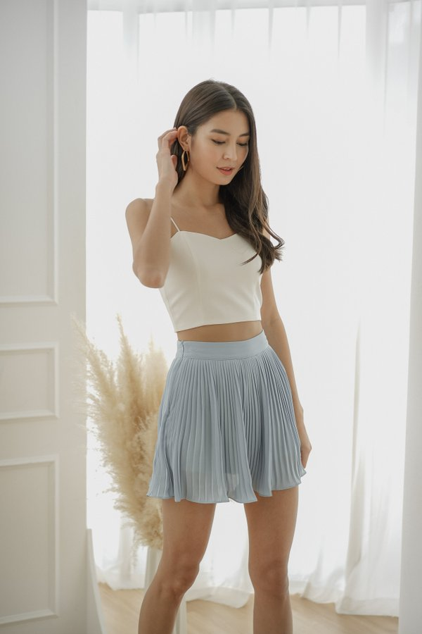 Adelle  Pleated Skorts in Baby Blue