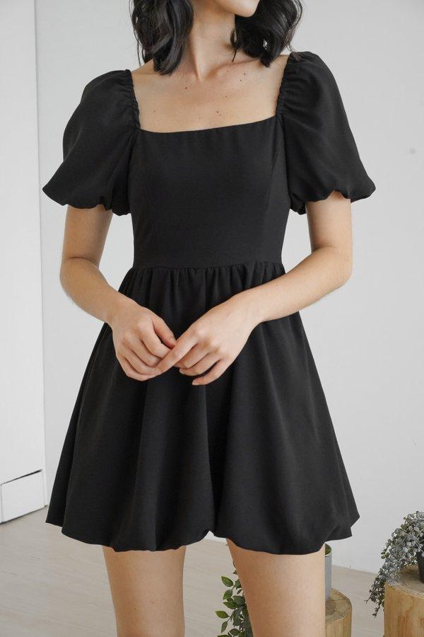Claude Babydoll Dress in Black