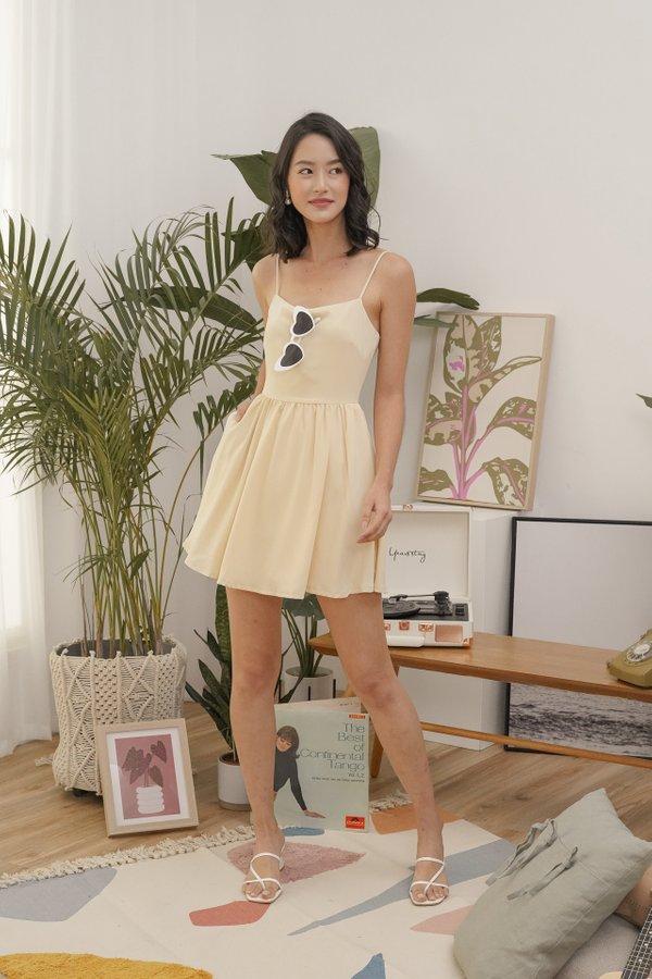Phoebe Cami Dress in Pale Daffodil