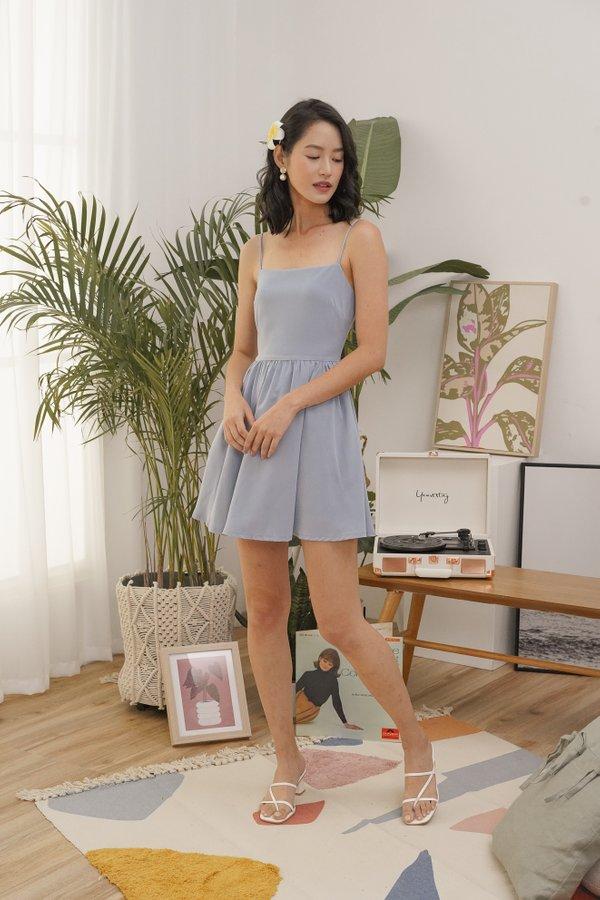 Phoebe Cami Dress in Cerulean Blue
